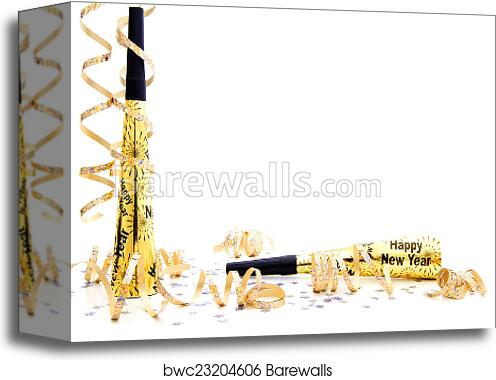 canvas print of new years eve party border
