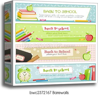Back to school banners canvas print