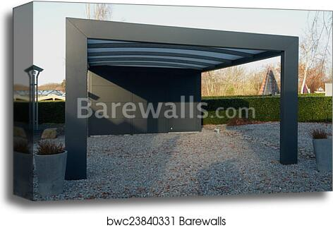 Modern Carport Car Garage Parking Canvas Print Barewalls Posters Prints Bwc23840331