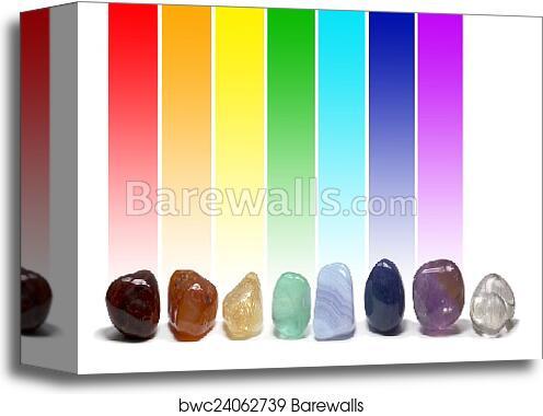 Canvas Print Of Chakra Healing Crystals Color Chart Barewalls