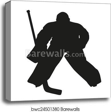 Hockey Goalie Vector Silhouette Canvas Print Barewalls Posters