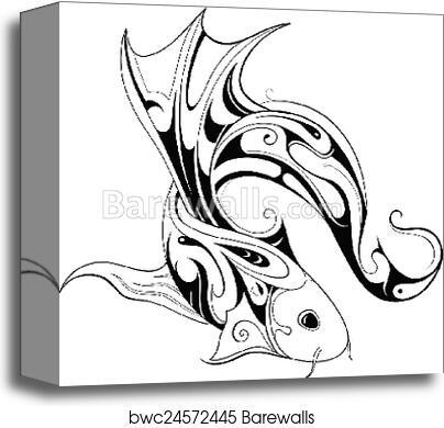 Koi Fish Tattoo Canvas Print