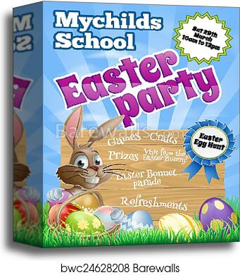 canvas print of easter party flier barewalls posters prints