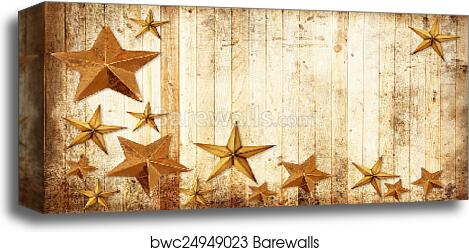 Country Christmas Background.Country Christmas Stars Canvas Print Barewalls Posters