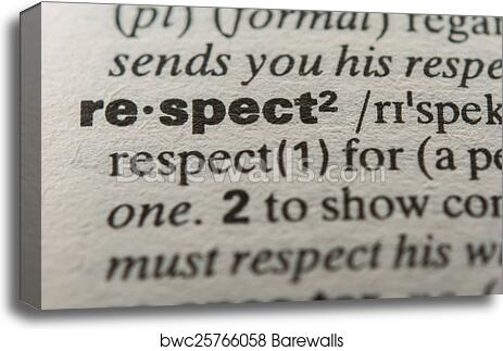what does the word respect mean to you