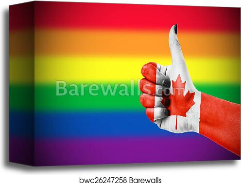 canvas print of positive attitude of canada for lgbt community