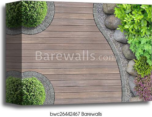 Canvas Print Of Garden Design Top View