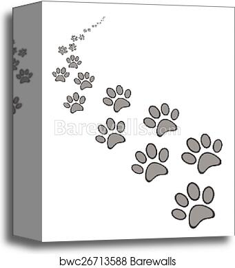 Canvas Print Of Cute Dog Or Cat Paw Print Barewalls Posters