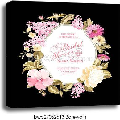 Bridal Shower Invitation Canvas Print
