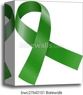 Green Ribbon Scoliosis Mental Health And Other Awareness Symbol Vector Illustration