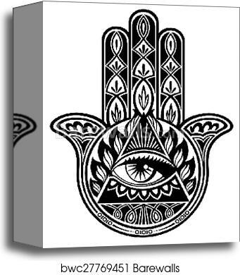Canvas Print Of Hamsa Hand Barewalls Posters Prints Bwc27769451