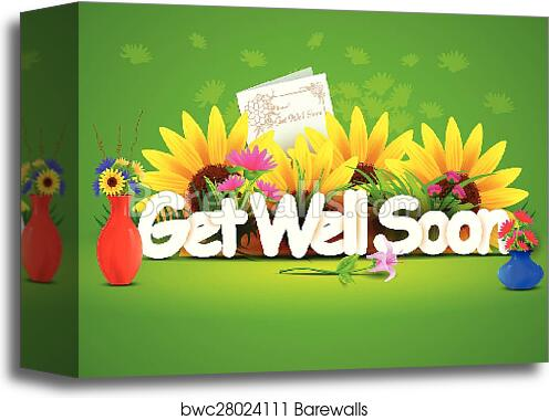 canvas print of get well soon wallpaper background