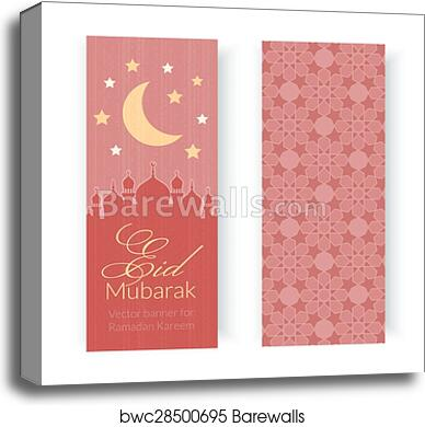 Canvas print of greeting cards or banners with mosques and moon canvas print of greeting cards or banners with mosques and moon m4hsunfo