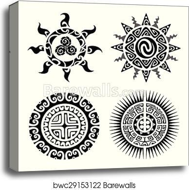 db126fb89 Traditional Maori Taniwha tattoo, Canvas Print | Barewalls Posters ...