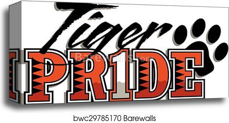 Tiger pride, Canvas Print   Barewalls Posters & Prints   bwc29785170