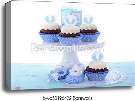 Beste Its a Boy Blue Baby Shower Cupcakes, Canvas Print | Barewalls CI-98