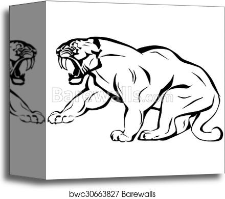 Canvas Print Of Saber Tooth Tiger