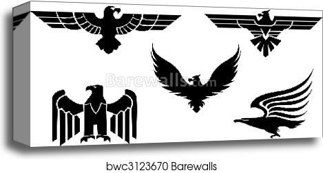 Eagle Tattoos Canvas Print