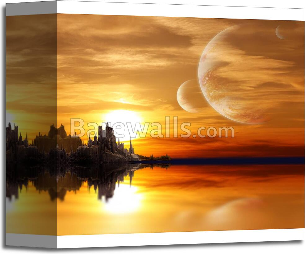 Landscape In Fantasy Planet - 2 Art Print/Canvas Print Home Decor ...