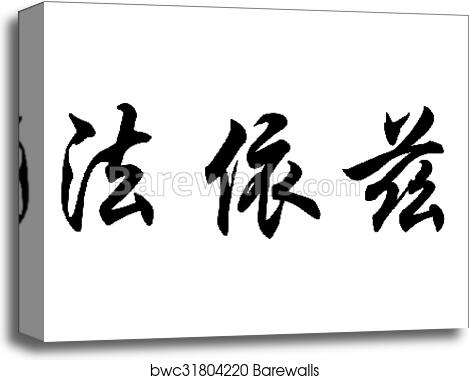 English name Faiz in chinese calligraphy characters canvas print