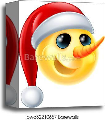 Canvas Print Of Snowman Emoji Barewalls Posters Prints Bwc32210657