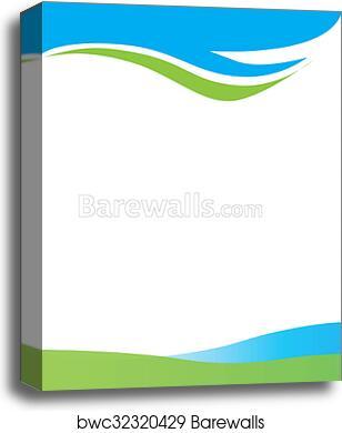 Canvas print of blue green swirl border barewalls posters prints canvas print of blue green swirl border altavistaventures Images