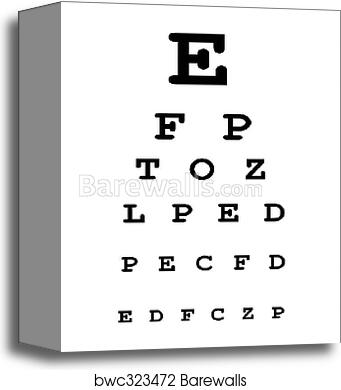 Canvas Print Of Eye Test Chart Barewalls Posters Prints Bwc323472