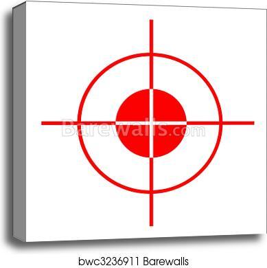 gun sight, canvas print