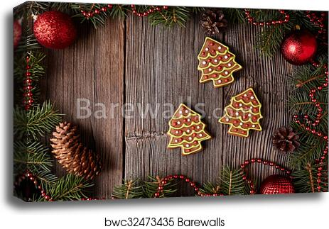 Wall Art Canvas Picture Print Christmas Tree Snow New Year 3.2