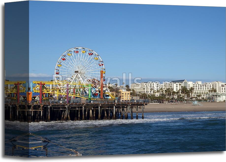 Santa Monica California Art Print Canvas Home