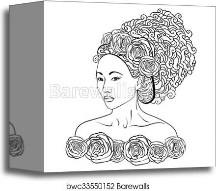 Beautiful Girl Coloring Pages Stock Vector - Illustration of ... | 390x440