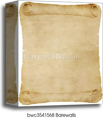 canvas print of old parchment scroll barewalls posters prints