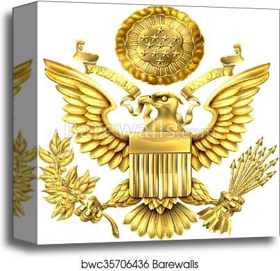 3da26b1cf Gold Great Seal of the United States, Canvas Print | Barewalls ...