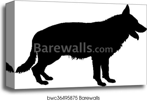 German Shepherd Silhouette Canvas Print Barewalls Posters Prints Bwc36495875 36 transparent png illustrations and cipart matching german shepherd silhouette. german shepherd silhouette canvas print