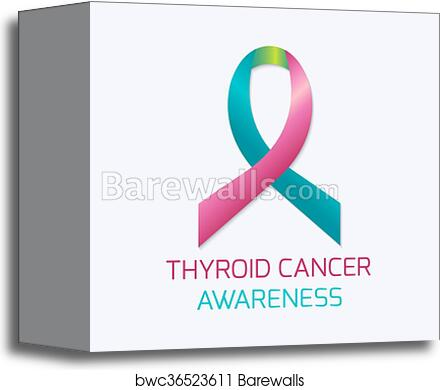 Thyroid Cancer Ribbon Canvas Print Barewalls Posters Prints Bwc36523611
