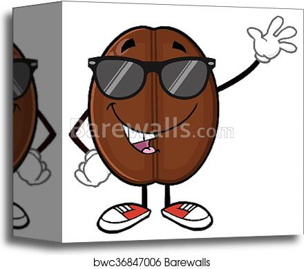 Funny Coffee Bean With Sunglases Canvas Print Barewalls Posters Prints Bwc36847006