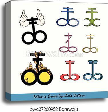 Canvas Print Of Designs Of Satanic Cross Symbols Barewalls Posters