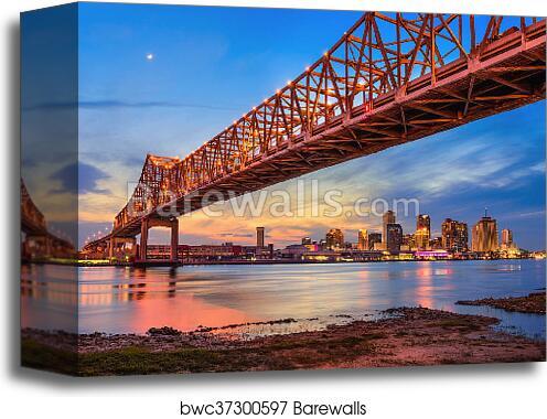 Canvas Print Of New Orleans Bridge