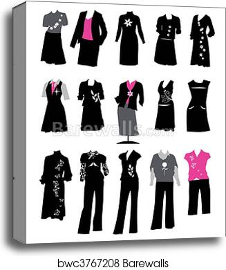 Canvas Print Of Collection Of Women S Business Suits Office Style