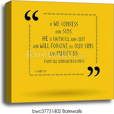 Bible quotes about God\'s forgiveness canvas print