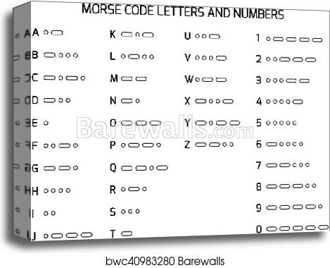 Code For Letters Of The Alphabet.International Morse Code Alphabet Canvas Print