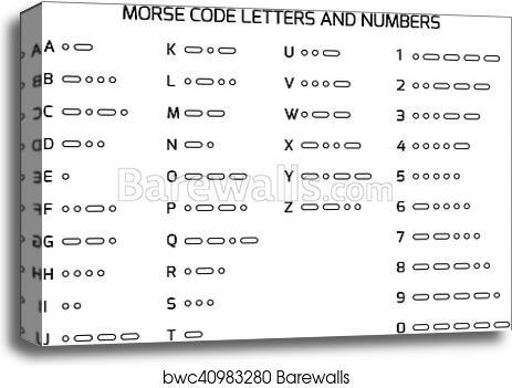 Canvas Print Of International Morse Code Alphabet  Barewalls