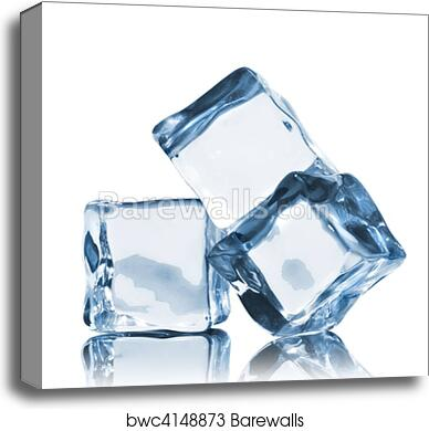 Canvas Print Of Ice Cubes Isolated On White Barewalls Posters
