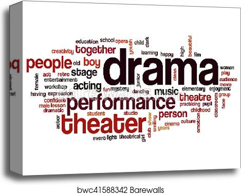 Drama word cloud canvas print