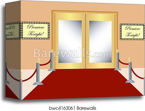 Red Carpet Background Canvas Print Barewalls Posters Prints Bwc4163061