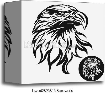 Eagle Head Logo Vector Canvas Print Barewalls Posters Prints Bwc42893813
