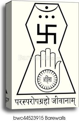Canvas Print Of Religious Sign Jainism This Is The Official Symbol