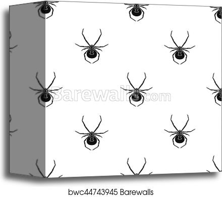 Black Widow Spider Icon In Black Style Isolated On White Background Insects Pattern Stock Vector Illustration Canvas Print Barewalls Posters Prints Bwc44743945