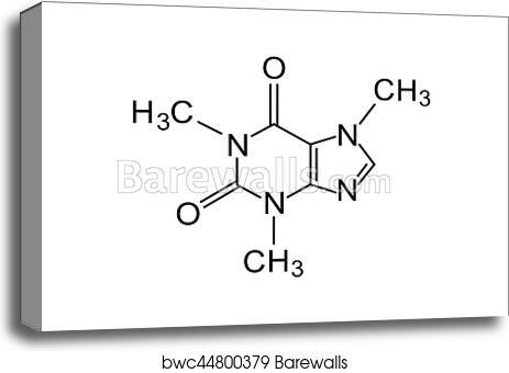 Canvas Print Of Caffeine Chemical Formula Barewalls Posters