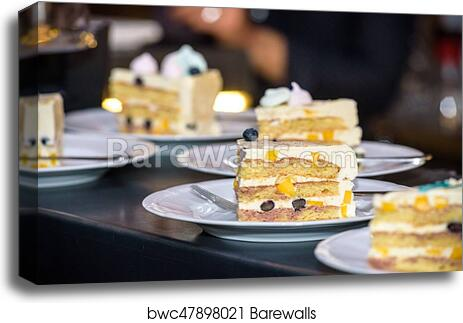 Swell Piece Of Birthday Cake Served On A Little Plate Canvas Print Personalised Birthday Cards Petedlily Jamesorg